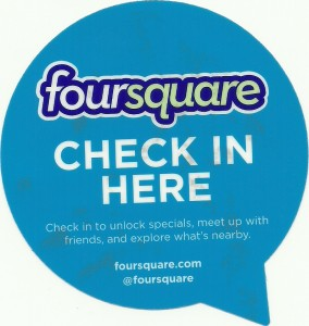 Four Square window sticker