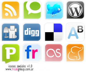 small business social bookmark icons